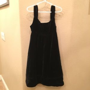 GAPKIDS Girls Black Velvet Dress Size 6-7 Yrs